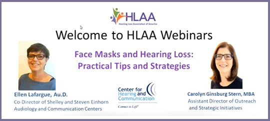 webinar Face Masks and Hearing Loss Practices and Strategies