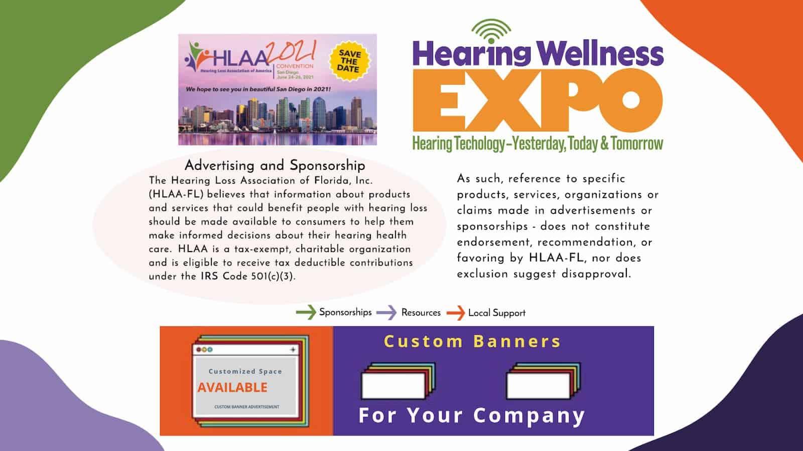 HLAA-FL AD/Sponsor Disclaimer