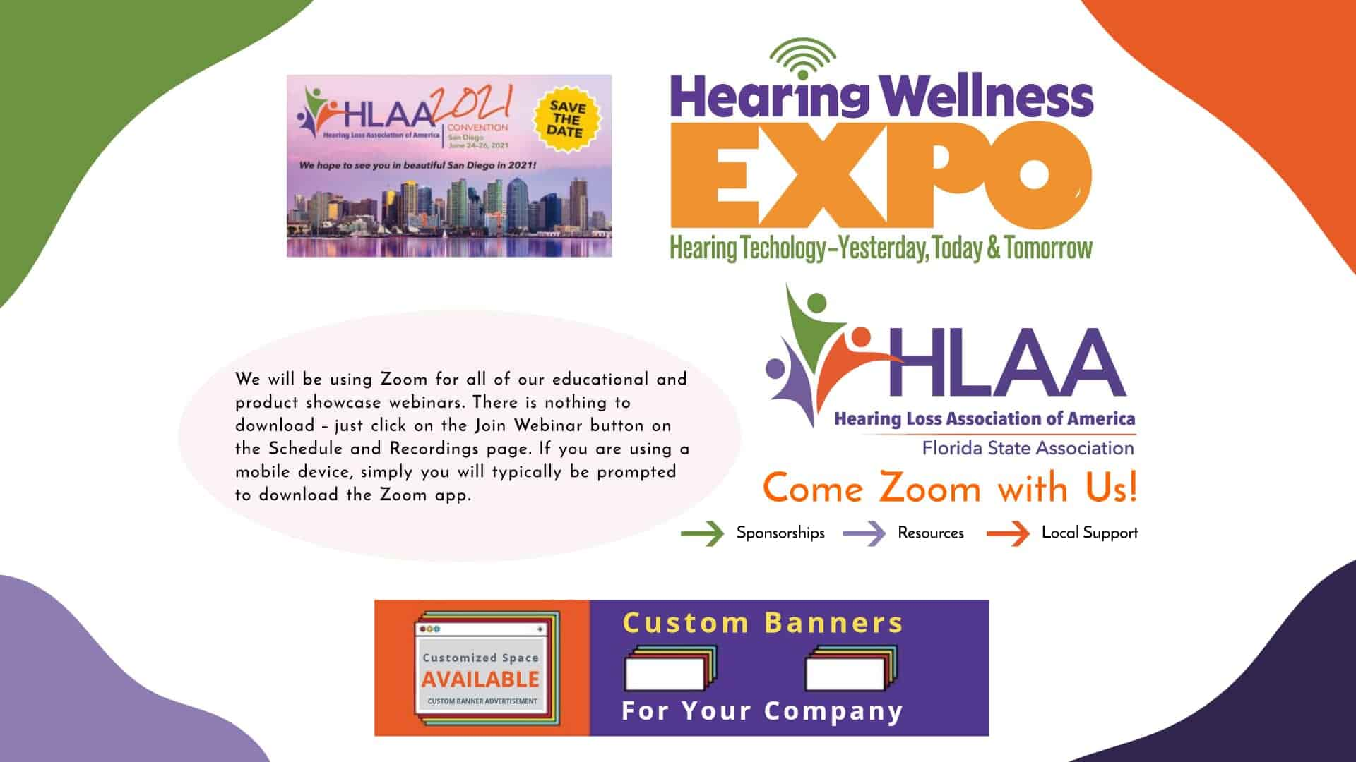 Hearing Loss Association of Florida Post Advertisement Banner